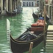 Resting Gondola Art Print by Michael Swanson