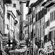 Restless In Arezzo-italy Art Print