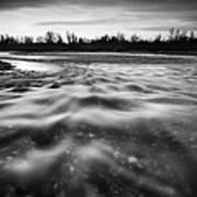 Restless River II Art Print