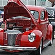 Restored Classic Cars Art Print