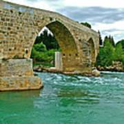 Restored Roman Bridge Over Eurynedan River-turkey Art Print