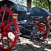 Restored Tractor Art Print