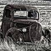 Retired Farm Truck Art Print