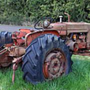 Retired Tractor Art Print