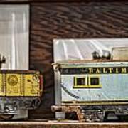 Retired Trains Art Print