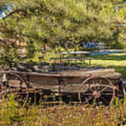 Retired Wagon At Thousand Trails Art Print