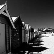 Retro Beach Huts II Art Print