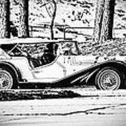 Retro Cabriolet Art Print