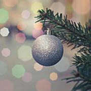 Retro Christmas Tree Decoration Art Print