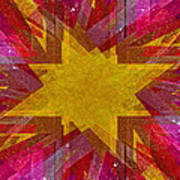 Retro Explosion 3 Art Print