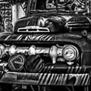 Retro Fire Engine Art Print