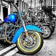 Retro Harleys Art Print