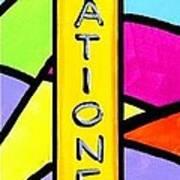 Retro Icon Art Print