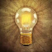 Retro Light Bulb Art Print