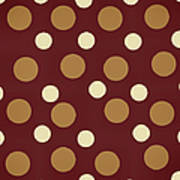 Retro Polka Dot Art Print