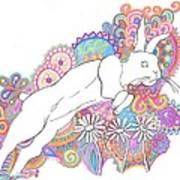 Retro Rabbit 2 Art Print