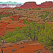 Return Trail To Elephant Hill In Needles District Of Canyonlands National Park-utah Art Print
