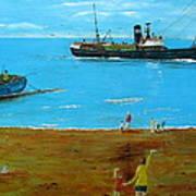 Returning Fishing Trawler  Art Print