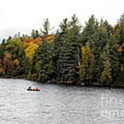 Returning From A Canoe Trip Art Print