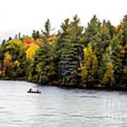 Returning From A Canoe Trip - V2 Art Print