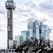 Reunion Tower Dallas Texas Art Print