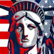 Reversing Liberty 1 Art Print