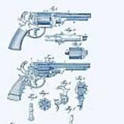 Revolver Patent E.t Starr Art Print