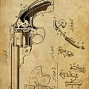 Revolving Fire Arm - Patented On 1885 Art Print