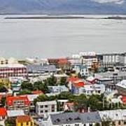 Reykjavik On The Water Art Print