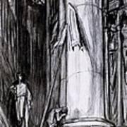 Rheims Cathedral, Scene From St Joan Art Print