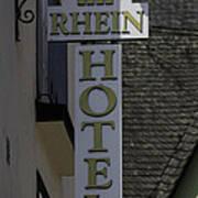Rhine Hotel St Martin Sign  Art Print