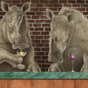Rhine Tasting... Art Print by Will Bullas