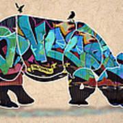 Rhino 2 Art Print