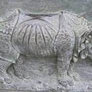 Rhino Relief - Church Door Detail Pisa Art Print
