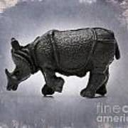 Rhinoceros Art Print by Bernard Jaubert