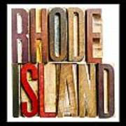 Rhode Island Antique Letterpress Printing Blocks Art Print