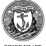 Rhode Island State Seal Art Print