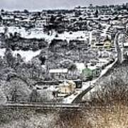 Rhymney Valley Winter 2 Art Print