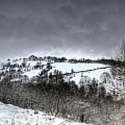 Rhymney Valley Winter 3 Art Print
