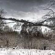 Rhymney Valley Winter 5 Art Print
