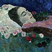 Ria Munk On Her Deathbed Art Print