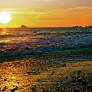 Rialto Beach Sunset Olympic National Park Art Print