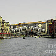 Rialto Bridge Venice Art Print
