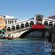 Rialto Bridge Venice Art Print