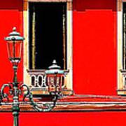 Rialto Red Art Print