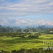 Rice Farming In China Art Print
