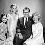 Richard Nixon And Family Art Print