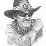 Richard Petty Pencil Portrait Art Print