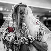 Richard Simmons Is A Blushing Bride Art Print
