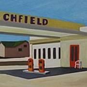 Richfield Gas Station Art Print